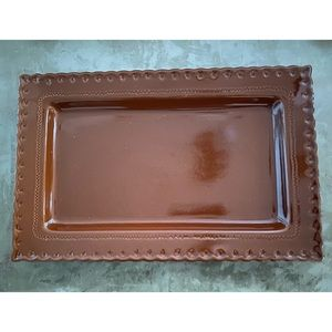 😊NWOT Large Carmel Color Serving Platter